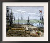 Lumber Wharf on the North Pacific Coast, c.1880 Prints