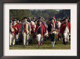 British Troops Marching in a Reenactment on the Yorktown Battlefield, Virginia Posters