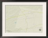Political Map of Ravenel, SC Art