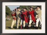 British Fifers Marching in a Reenactment on the Yorktown Battlefield, Virginia Prints