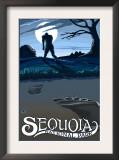 Sequoia Nat'l Park - Bigfoot - Lp Poster, c.2009 Prints by  Lantern Press