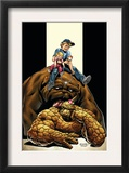 The Thing 4 Cover: Thing, Richards, Franklin, Richards, Valeria and Lockjaw Prints by Andrea Di Vito
