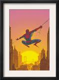 Spectacular Spider-Man 27 Cover: Spider-Man Swinging Poster by Mark Buckingham