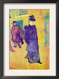 Jane Avril Leaves The Moulin Rouge Posters by Henri de Toulouse-Lautrec