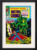 Strange Tales 162 Cover: Dr. Strange and Nebulos Flying Poster by Dan Adkins