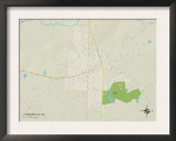 Political Map of Johnsonville, SC Prints