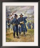 General Burnside Ordering Hooker to Charge the Heights at Fredericksburg, Virginia Print