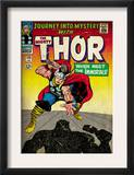 Marvel Comics Retro: The Mighty Thor Comic Book Cover 125, Journey into Mystery (aged) Print