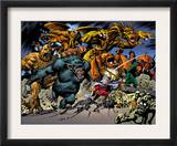 Marvel: Monsters On The Prowl 1 Group: Fin Fang Foom, Mole Man, Moloids and Goom Poster by Duncan Fegredo