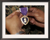 A Light Armored Vehicle Commander was Awarded the Purple Heart Poster by  Stocktrek Images