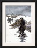 Valley Forge Soldier on Picket Duty in the Snow, Awaiting His Relief Shift, American Revolution Prints
