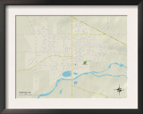Political Map of Stayton, OR Posters