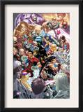 New X-Men 22 Cover: X-23, Hellion, Rockslide, Dust, Surge and Mercury Print by Mark Brooks