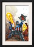 The New Invaders 2 Cover: Captain America Prints by Scott Kolins