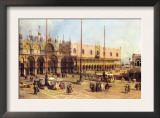 Piazza San Marco Poster by  Canaletto