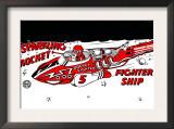 Sparkling Rocket Fighter Ship Prints