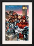 New Excalibur 1 Cover: Captain Britain, Juggernaut, Dazzler, Nocturne and New Excalibur Art by Michael Ryan
