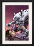 Spellbinders 3 Cover: Vesco and Kim Crouching Print by Mike Perkins