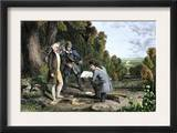 Capture of British Agent John Andre and Discovery of Benedict Arnold's Treason, American Revolution Prints