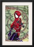 Spider-Girl 70 Cover: Spider-Girl Fighting Poster by Ron Frenz