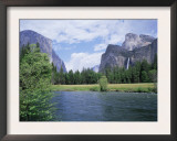 Bridalveil Falls (620 Feet) and the Merced River, Yosemite National Park, California USA Posters by David Kjaer