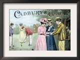 Advertisement for Cadbury's Cocoa, Showing a Croquet Game, c.1899 Prints