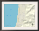 Political Map of Rockaway Beach, OR Posters