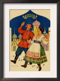 Russian Dancers In a Folk Costume Prints