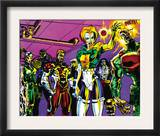 The Official Handbook Of The Marvel Universe Teams 2005 Group: Argento Prints by Paco Diaz Luque