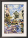 In a French Garden Print by Childe Hassam