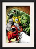 Marvel Monsters: Ulysses Bloodstone Group: Red Ronin and Fin Fang Foom Posters
