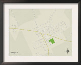 Political Map of Pamplico, SC Prints