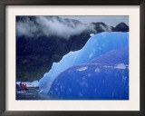 Blue Iceberg, San Rahael Glacier, Chilean Fjords, Chile, South America Print by Pete Oxford