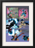 New Thunderbolts 14 Group: Photon, Sentry, Captain America and Songbird Prints by Tom Grummett
