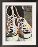 High Tops for Peace - Vintage Sneakers Print by Lisa Weedn