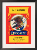No. 2 Warehouse Eagle Broom Label Posters