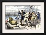 American Sailors in Boston Impressed Into Service of the British Navy Before the War of 1812 Prints