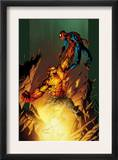 Ultimate Spider-Man 77 Cover: Hobgoblin and Spider-Man Fighting and Flying Posters by Mark Bagley