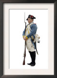 French Soldier at a Reenactment on the Yorktown Battlefield, Virginia Posters