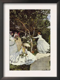 Women In The Garden Prints by Claude Monet