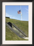 U.S. Flag with Fifteen Stars over Fort Moultrie, Charleston Harbor, South Carolina Prints