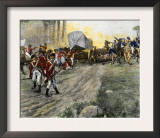 British Wagon-Train Ambushed by Francis Marion in South Carolina during the Revolutionary War Print
