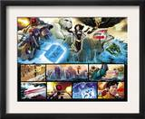The Order 1 Group: Mulholland, Supdernaut, Veda, Calamity, Heavy and Alarune Fighting Prints by Barry Kitson
