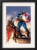 Captain America And The Falcon 3 Cover: Captain America and Falcon Prints by Bart Sears