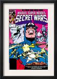 Secret Wars 7 Cover: Captain America, Spider Woman, Doctor Octopus and Wolverine Posters by Mike Zeck