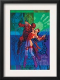 Elektra 35 Cover: Daredevil and Elektra Fighting and Shooting Posters by Brian Stelfreeze
