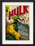Marvel Comics Retro: The Incredible Hulk Comic Book Cover 109, the Lost Land of Ka-Zar (aged) Poster