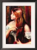 Combing Girl Prints by Pierre-Auguste Renoir