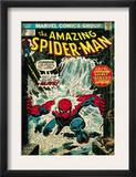 Marvel Comics Retro: The Amazing Spider-Man Comic Book Cover 151, Flooding (aged) Poster