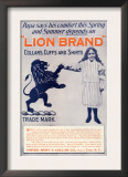 Ad for Lion Brand Shirts, Collars, and Cuffs for Men, c.1901 Posters